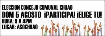 ELECCION CONSEJO COMUNAL DOM 5 AGOSTO